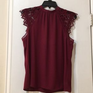 Express maroon blouse